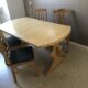 Matbord, 4 stolar, massivt furu