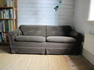 Dux 2-sitssoffa 60-tal 70-tal brun fint skick